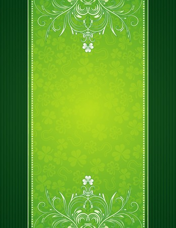 green background with shamrock, vector illustration Stock Vector - 4269303