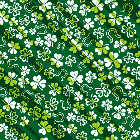green background with shamrock Stock Vector - 4269302