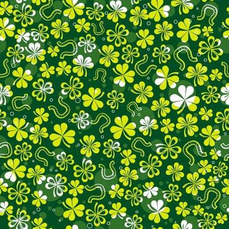 green background with shamrock Stock Vector - 4269300