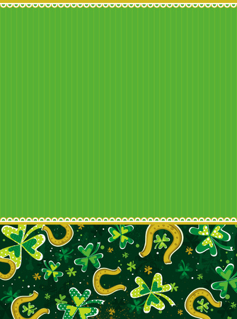 green background with shamrock, vector illustration Stock Vector - 4284808