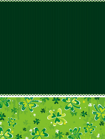 green background with shamrock, vector illustration