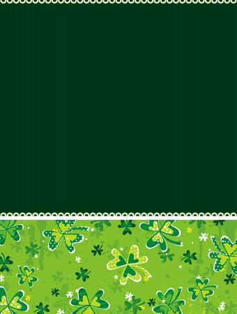 green background with shamrock, vector illustration Vector