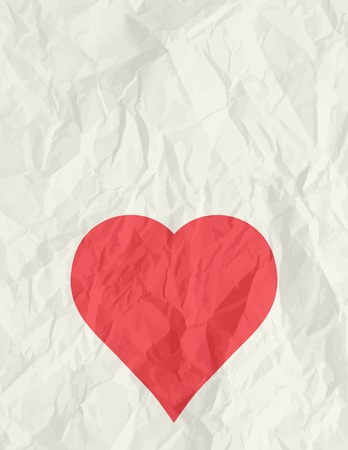 big red heart over beige background, vector illustration Vector