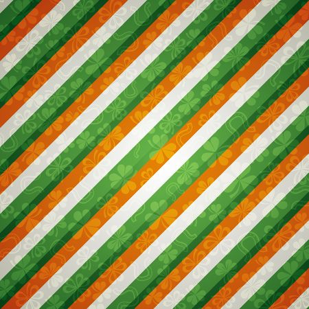 striped background with shamrock photo