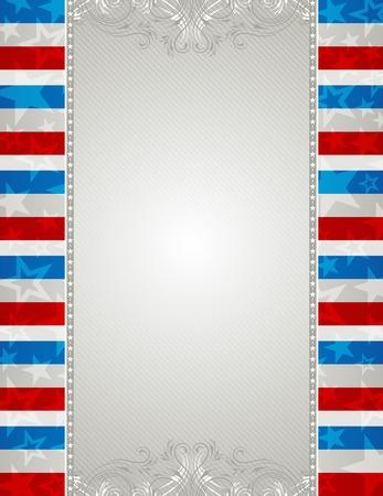 patriotic border: EE.UU. fondo con estrellas y adornos decorativos