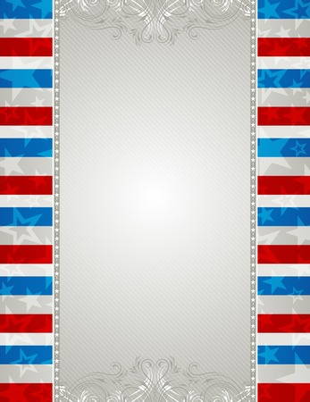 usa background with stars and  decorative ornaments Vector