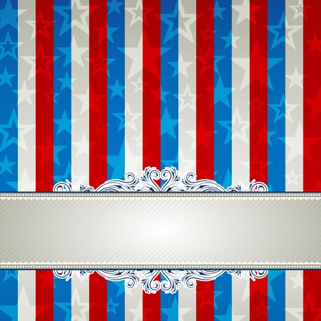 square usa background with stars and  decorative frames