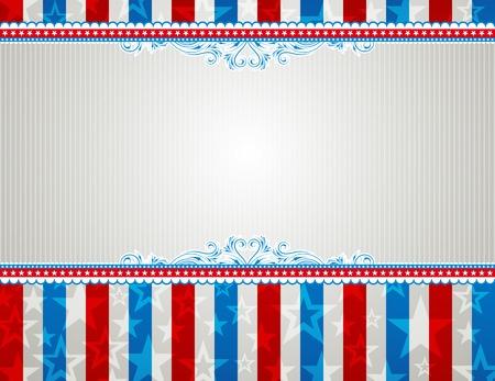 美国背景与星星和装饰框架