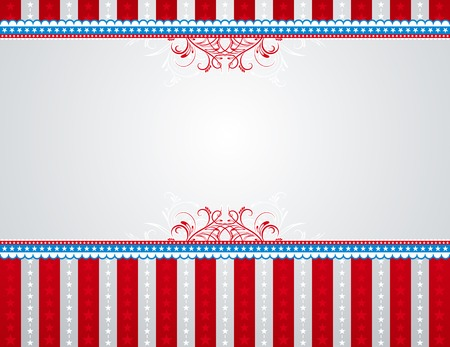memorial day: usa background with stars and  decorative frames