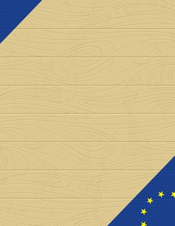 background with eu banner Vector