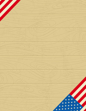 background with usa banner Stock Vector - 4466043