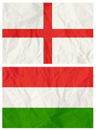 English and Hungary flag,vector illustration Vector