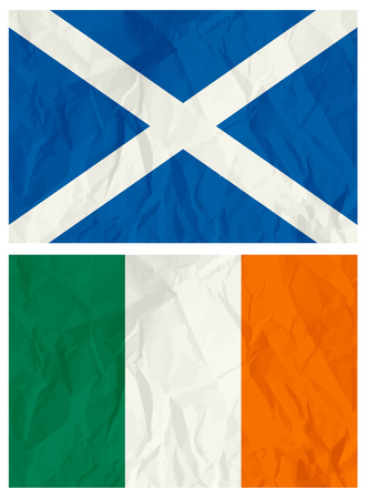 irish pride: Scotland and Ireland flag,vector illustration Illustration