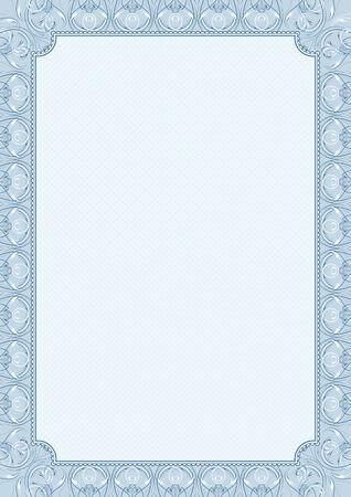 frieze: blue background with decorative ornate, vector illustration Illustration
