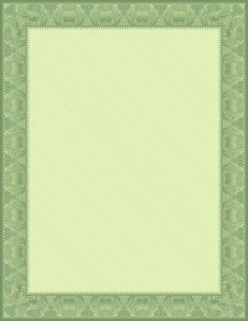 oorkonde: groene certificaten achtergrond, vector