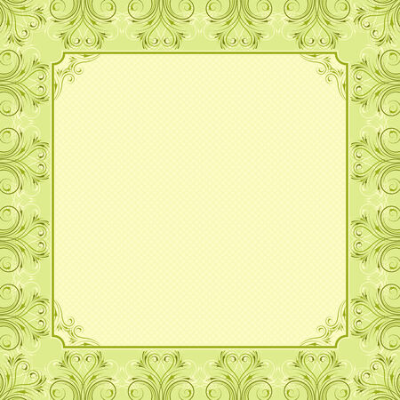 square green background with decorative ornate, vector illustration Stock Vector - 4645653