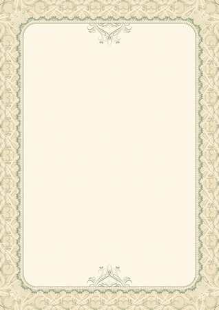 beige background with decorative ornate, vector illustration Illustration