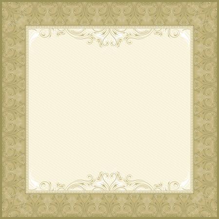 deed: cuadrados de fondo de color beige adornado con decoraci�n, ilustraci�n vectorial
