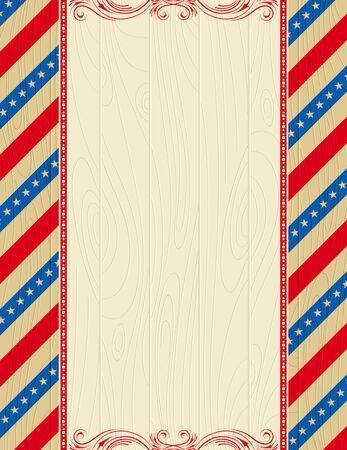 patriotic border: EE.UU. madera de fondo con estrellas y marcos decorativos