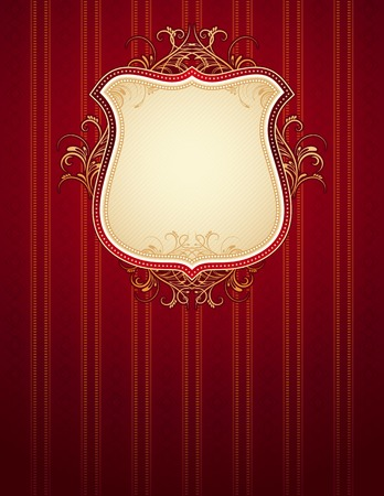 charter: red classical background, vector illustration