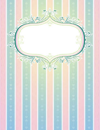 charter: striped classical background, vector illustration
