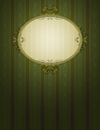green classical background, vector illustration Vector