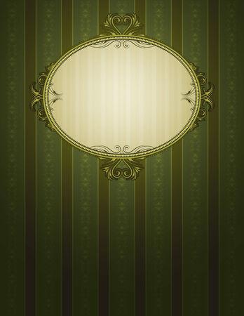 oorkonde: groene klassieke achtergrond, vector illustration