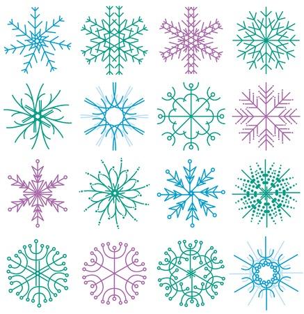 many decorative elements, vector Vector