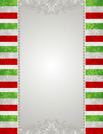 christmas background with snowflakes and  decorative frames Vector
