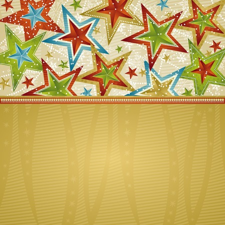 christmas background with stars, vector illustration Stock Vector - 5546115