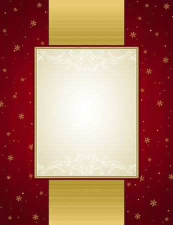 holiday picture: red christmas background,illustration Illustration