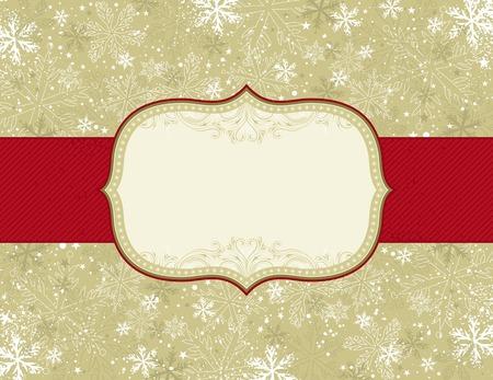 christmas elements: beige christmas background with christmas elements,  illustration