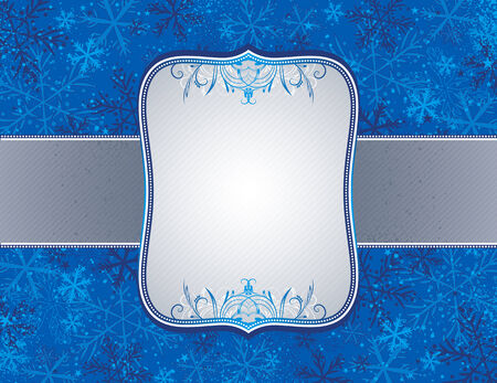 blue christmas background with christmas elements,  vector illustration Vector