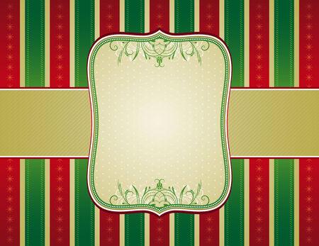 ornaments vector: striped background di Natale con ornamenti decorativi, illustrazione vettoriale