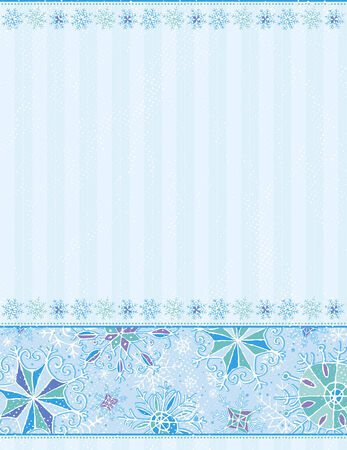 blue christmas background, vector illustration Stock Vector - 5761359