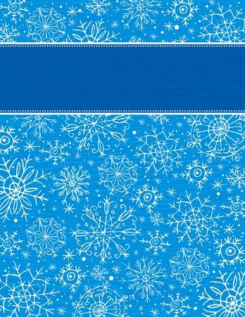 blue christmas background, vector illustration Stock Vector - 5761354