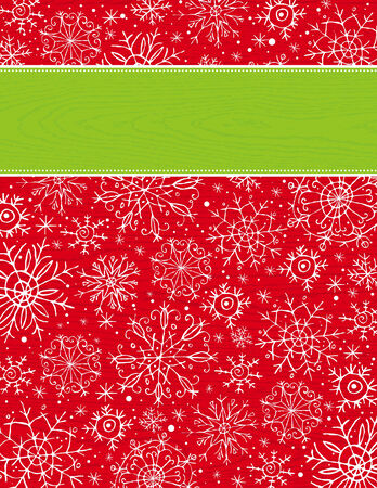 red christmas background, vector illustration Stock Vector - 5779710