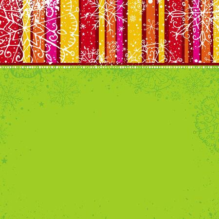 garabatos: verde Navidad fondo, vector de la ilustraci�n
