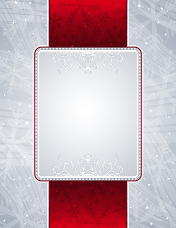 holiday picture: silver christmas background, vector illustration