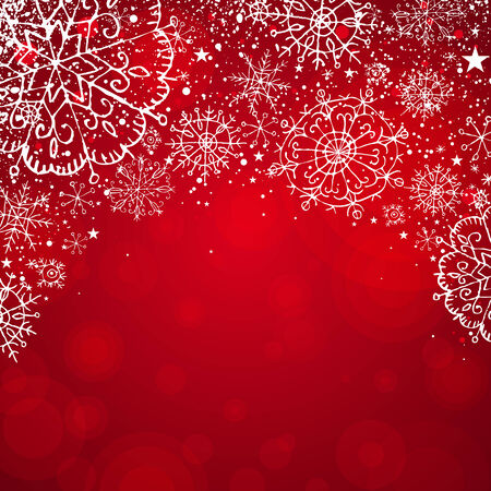 red christmas background, vector illustration Stock Vector - 5787604