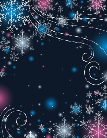 blue christmas background, vector illustration Vector