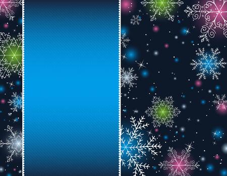 blue christmas background, vector illustration Stock Vector - 5787606