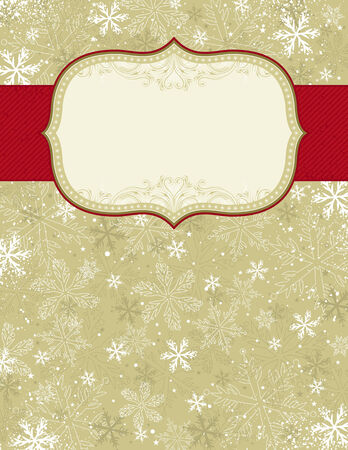 small  picture: beige christmas background with christmas elements, illustration Illustration