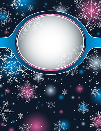 color christmas background with snowflakes,  vector illustration Stock Vector - 5806716