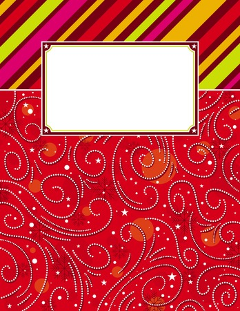 color  background with christmas elements,  vector illustration Vector