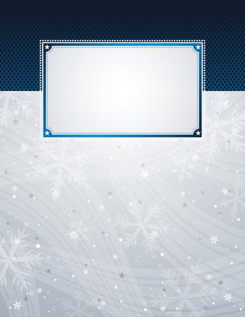 noel argent�: argent sur fond de No�l flocons de neige, illustration vectorielle