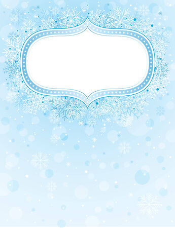 blue christmas background with christmas elements Stock Vector - 5891447