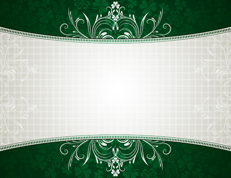 green card with shamrock, vector illustration Stock Vector - 6248535