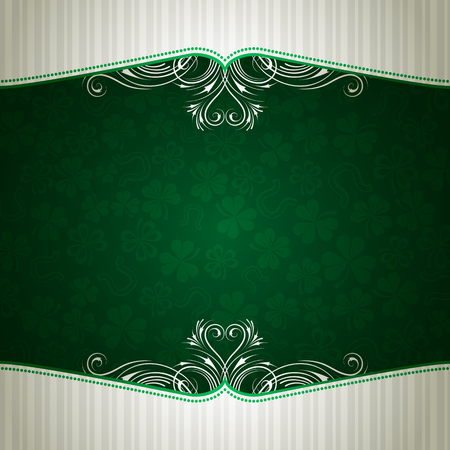 green card with shamrock, vector illustration Stock Vector - 6248529
