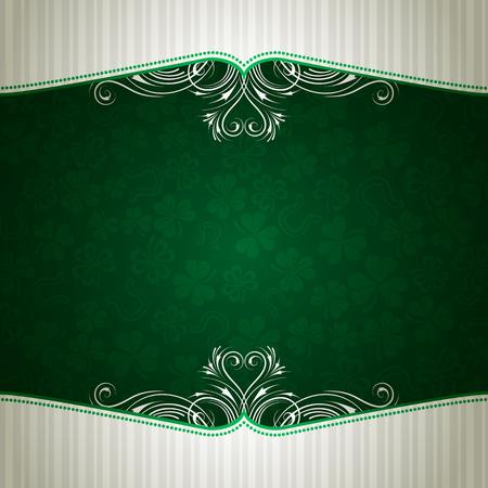 green card with shamrock, vector illustration Stock Vector - 6248529